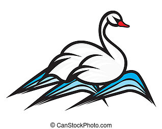 swan - Vector illustration of the swan
