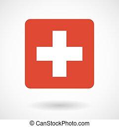 Vector illustration of    the Swiss flag