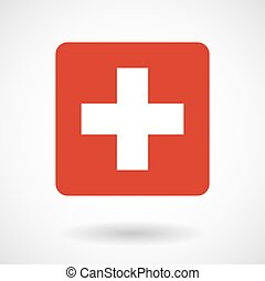 Vector illustration of the Swiss flag