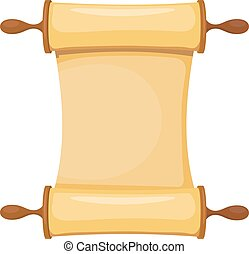 Vector illustration of the Torah on a white background. Isolated object. Cartoon image of the