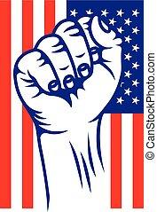 USA revolution fist