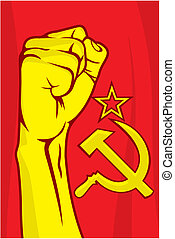 USSR fist - Vector illustration of the USSR fist