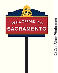 Welcome to Sacramento road sign