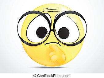 Vector Illustration Of thinking emoticon
