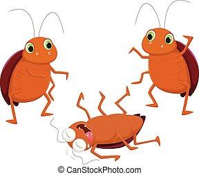 three cockroach cartoon