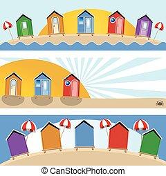 beach hut banners