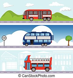 bus transport banners