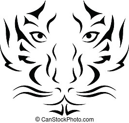 vector illustration of Tiger Tattoo