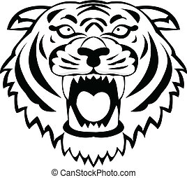 Tiger tattoo - Vector Illustration Of Tiger tattoo