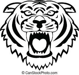 Tiger tattoo - Vector Illustration Of Tiger tattoo
