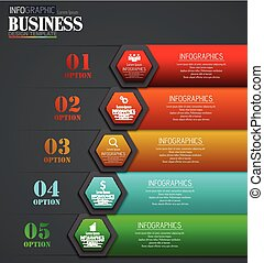 Timeline Infographic data Visualization design Template Business concept with 5 options