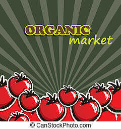 vector illustration of tomatoes. organic food concept