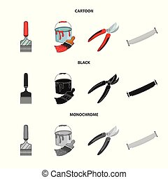 Vector illustration of tool and construction logo. Set of tool and carpentry stock vector illustration.