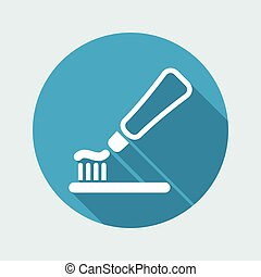 Vector illustration of toothpaste vector single icon