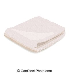 Vector illustration of towel isolated on white background.
