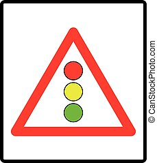 Vector illustration of traffic lights sign isolated on white background