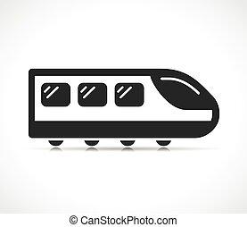 Vector illustration of train icon