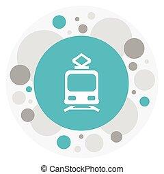 Vector Illustration Of Transport Symbol On Streetcar Icon. ...