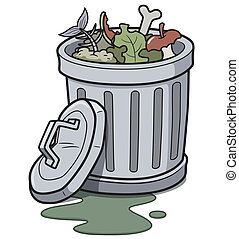 Trash can - Vector illustration of Trash can