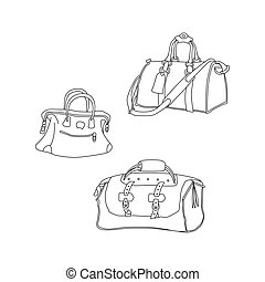 Vector illustration of travel bags.