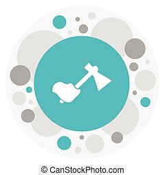 Vector Illustration Of Travel Symbol On Axe Icon. Premium Quality Isolated Hatchet Element In Trendy Flat Style.