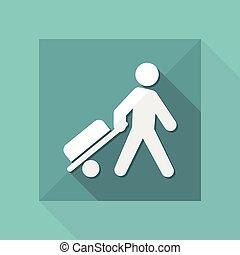Vector illustration of traveler icon