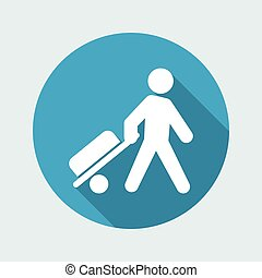 Vector illustration of traveler icon