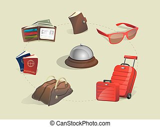 Vector Illustration of traveling icon set