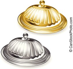 vector illustration of tray and lid