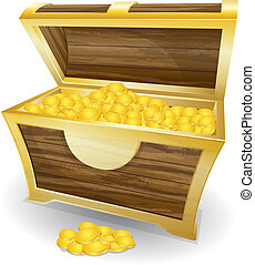 treasure chest - Vector illustration of treasure chest with ...