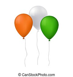 vector illustration of tree balloons for st patricks day