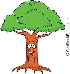 Vector Illustration Of Tree cartoon character
