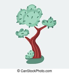 Vector illustration of tree on white background.