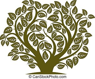 Vector illustration of tree with branches in the shape of ...