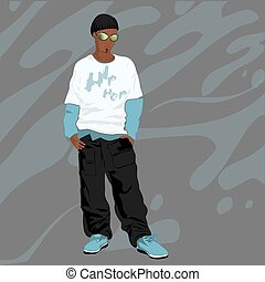 Vector illustration of trendy guy