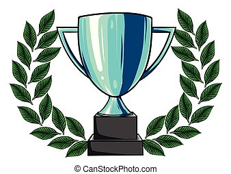 vector illustration of Trophy cups and medals