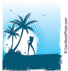 Tropic back - Vector illustration of Tropic back