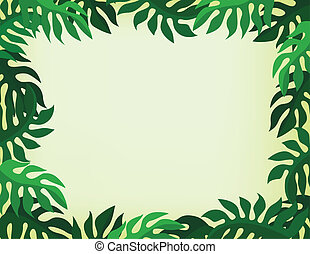 tropical background - vector illustration of tropical...