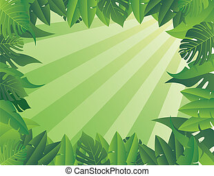 Tropical Leaf Background - vector illustration of Tropical ...