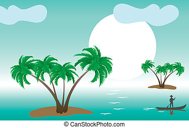 tropical palm islands