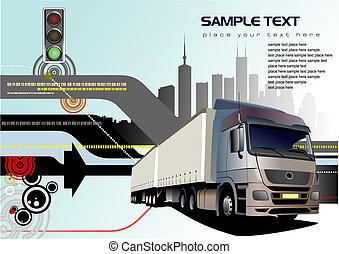 Vector illustration of truck