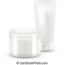 Vector illustration of tube cosmetic. Tube Of Toothpaste, Cream, Gel, Serum or Clean. Product Packing.