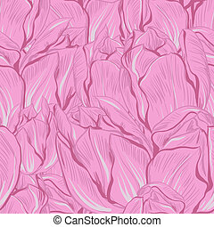 Vector illustration of tulips. (Seamless flowers pattern)