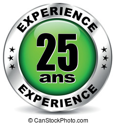 twenty five years experience icon