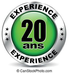 twenty years experience icon
