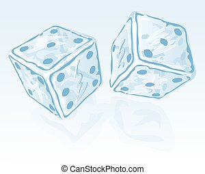 Two ice dices - Vector illustration of Two ice dices....