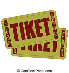 Vector illustration of two isolated tiket icon