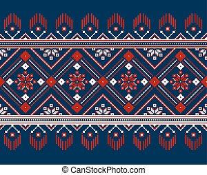Vector illustration of ukrainian folk seamless pattern ornament.