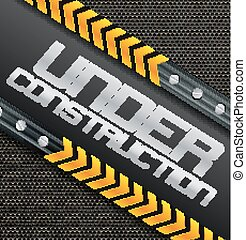 Under construction sign on a textured background