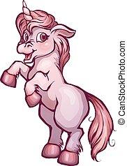Vector illustration of unicorn in cartoon style